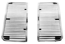1968-69 Chevrolet Chevelle, El Camino Hood Louvers/ Grills - Pair New, Chrome
