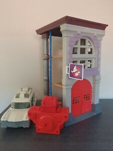 Vintage Kenner Ghostbusters FIRE HOUSE PLAYSET - COMPLETE! Plus Ecto 1