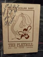 Vintage 1946 Playbill Billion Dollar Baby
