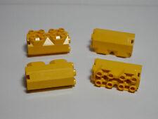 LEGO Set of 4 Modified Octagonal Brick 2x2x 3 1/3 Side Studs Yellow 7-12  6042