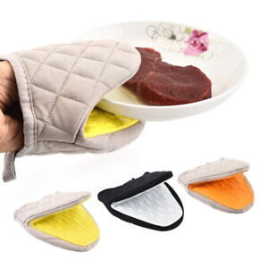 New Silicone Anti-scalding Microwave Tray Kitchen Potholder Mitts Gloves Oven~