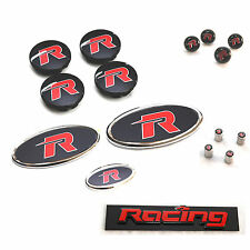R Emblem Badge Full Set For KIA Forte Cerato 4DR 5DR Koup 2009 2013