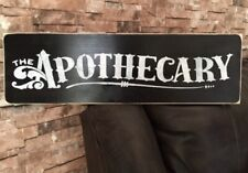 Apothecary Rustic Farmhouse Wood Sign