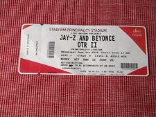 JAY-Z AND BEYONCE used tickets X1,6TH JUNE 2018,PRINCIPALITY STADIUM,CARDIFF,(3)