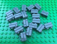 Lego 2x1 Dark Grey HOUSE BRICK Pattern Wall QTY20 City Town Western Castle