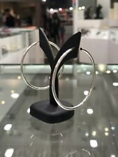 NEW Sterling Silver Earrings Large Hoop Ear Ring S/S 5cm Circle Round