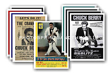Chuck Berry  - 10 promotional posters - collectable postcard set # 1