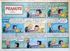 Peanuts by Charles Schulz - large half-page Sunday color comic - Feb. 24, 1963