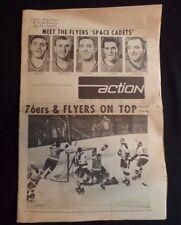 1968 Philadelphia Action Paper FLYERS 1stSeason Favell VanImpe Watson Hockey NHL