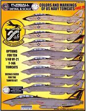 Furball Decals 1/48 GRUMMAN F-14 TOMCAT Colors & Markings U.S. Navy Tomcats #4