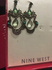 Nine West Emerald CRYSTALS EARRINGS  NWT