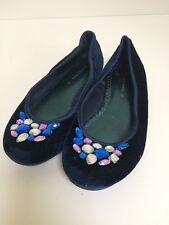 Girls John Lewis Navy Ballet Pump Shoes Size 13 ⭐️Gr8 Condition⭐️
