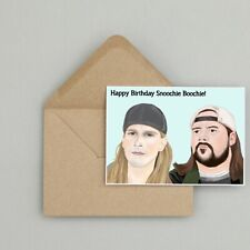 Recycled Hand Made Card Jay and Silent Bob Inspired Birthday Card Funny/Humour