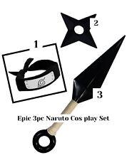 3pc New Naruto Konoha Leaf Village Shinobi Headband with Naruto Ninja Props!