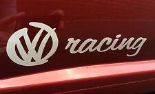 2x VW Racing Sill, Side Skirt, Rear, Sticker Decal  Polo Golf Volkswagen R32