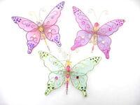 Gisela Graham Navidad Multicolor Fino lentejuelas decoración mariposa grande