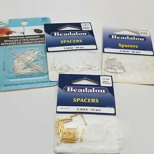 4 Package Lot Of Jewelry Making Supplies Spacers & Headpins