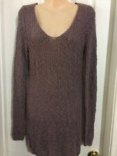 LOVE CULTURE Long Sleeve Purple Loose Knit Long Sweater Size Medium