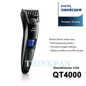 New Philips Norelco Beardtrimmer 3100 Beard trimmer Series 3000 QT4000 in box