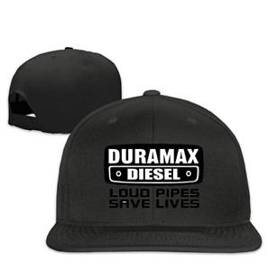 Cool Snapback Hat Duramax Quotes Plain Adjustable Cap Black