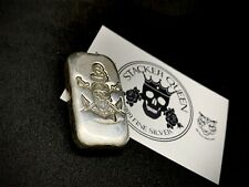 85g Chunky (.999) Silver Pirate Nugget Ingot Pure Silver Bar Bullion
