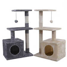 (2 Color) 34'' Cat Tree Tower Condo Furniture Scratch Post Tree Kitty Play House