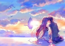"Sword Art Online SAO ALO Japan Anime  Fabric Poster 36"" x 24"" Decor 34"