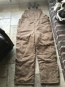 Bulwark Flame Resistant FR Insulated Winter Duck Brown Bib Overalls Size XXL-XLN