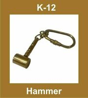 NEW HAMMER SHAPE BRASS MADE KEY RING KEYCHAIN KEY FOB NAUTICAL