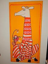 Vintage fabric Streamline Bob Van Allen Scuda Giraffe and Monkey 1970s