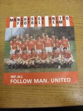 c 1985 Official Record/45 RPM: Manchester United - We All Follow Man United & Gl