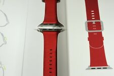Apple Watch Product RED Leather Authentic Genuine Band 38mm Classic Buckle