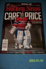 2013 Hockey News MONTREAL CANADIANS Carey PRICE The GOALIE ISSUE NewsStand N/Lab