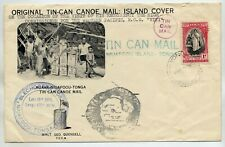 TONGA 1940 UNADDRESSED ILLUSTRATED TIN CAN MAIL COVER HIGH COMMISSIONER VISIT
