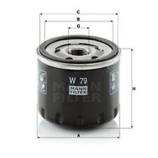 Mann W79 Oil Filter Spin On 64mm Height 76mm Outer Diameter Service Replacement