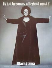 Blackglama Lena Horne Vintage 1969 advertising poster Mink Fur Coat Avedon Nm