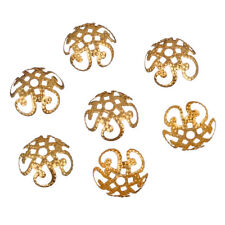 200pcs 10mm Silver Gold Plated Five Flower Metal Bead Caps Jewelry Making US DIY