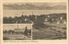 Bad Schachen bei Lindau im Bodensee, Panorama mit Schiff, Dampfer, Ak von 1925
