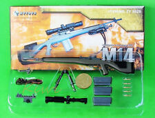 G_M14 US Military Designated Marksman M14 Sniper Rifle Action Figure Model 1:6