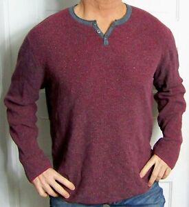 mens - LUCKY BRAND shirt - XL - THERMAL - HENLEY - Cotton / Viscose / Nylon