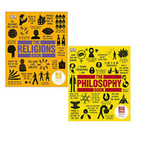 The Philosophy Book ,Religions Books By DK  Collection 2 books Hardcover NEW