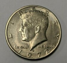 1972 D Kennedy Half Dollar 50 cent Error - No FG / Very Weak Initials - FS-901