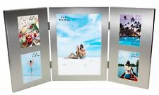 "5 Picture Silver Colour Photo Picture Frame - 5 x 7"", 2 x 3"" Multi Picture"