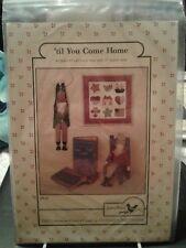 "NEW 'Til You Come Home Pattern 13"" Uncle Sam & Mini Quilt Jenny Wren"