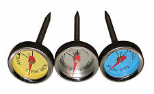 Norpro 5984 Mini Steak Thermometers Stainless Steel Set of 3 Grill Oven Pan safe