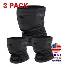 [3 PACK] ROCKBROS Neck Gaiter Black Face Mask Breathable Cool Sports Balaclava