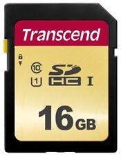 16GB Transcend 500S SDHC UHS-I SD Memory Card CL10 95MB/sec MLC Flash