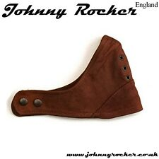 Johnny Rocker Classic style helmet Brown davida leather open face mask
