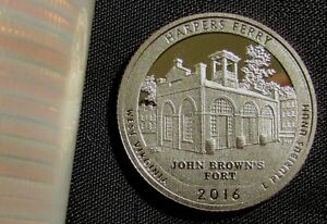 2016-S 25C Harpers Ferry NP Harpers Ferry NP DC (Proof) America the Beautiful Qu