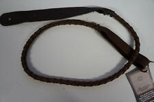 Lakota Leathers Round Braided Mandolin Strap - Chocolate